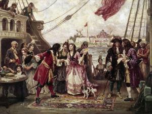 Captain William Kidd in New York Harbor by Jean Leon Gerome Ferris