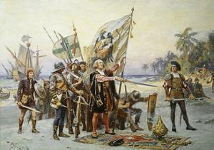 Columbus at San Salvador by Jean Leon Gerome Ferris