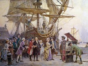 Franklin's Homecoming, c.1785 by Jean Leon Gerome Ferris