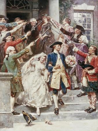 Here Comes the Bride, Wedding of Washington, c.1759