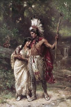 Hiawatha's Wedding Journey by Jean Leon Gerome Ferris