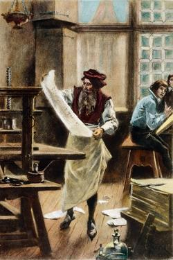 Johann Gutenberg by Jean Leon Gerome Ferris
