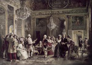 John Paul Jones and Benjamin Franklin at Louis XVI's Court by Jean Leon Gerome Ferris