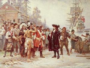 Landing of William Penn, 1682 by Jean Leon Gerome Ferris