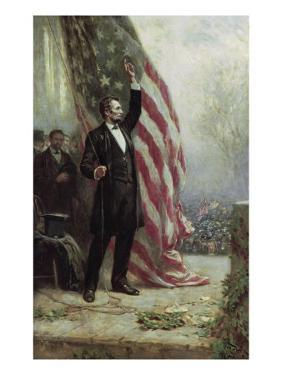 Lincoln at Independence Hall by Jean Leon Gerome Ferris
