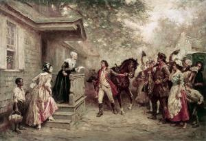 News of Yorktown, Brought to Washington's Mother by Jean Leon Gerome Ferris