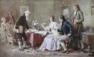 The Marriage Contract by Jean Leon Gerome Ferris