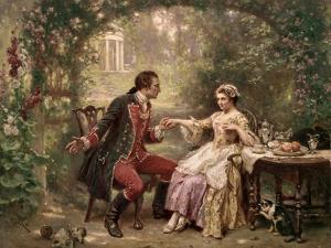Washington's Courtship by Jean Leon Gerome Ferris