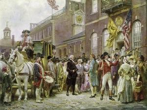 Washington's Inauguration at Philadelphia in 1793 by Jean Leon Gerome Ferris