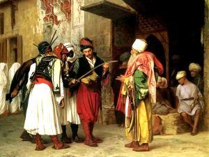 Old Clothes Merchant, Cairo, 1866 by Jean Leon Gerome