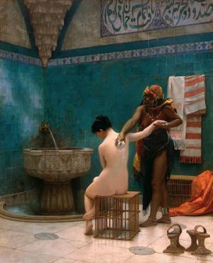 The Bath, ca. c.1880-1885 by Jean Leon Gerome