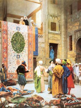 The Carpet Market by Jean Leon Gerome