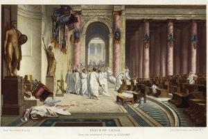 The Death of Caesar by Jean Leon Gerome