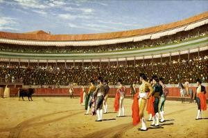 The Entry of the Bull by Jean Leon Gerome