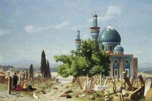 The Fields of Rest, Brousse by Jean Leon Gerome