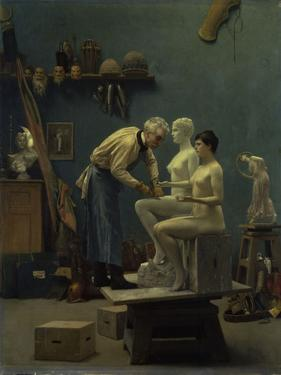The Marble Work, The Artist Sculpting Tanagra, or The Artist's Model, 1890 by Jean Leon Gerome