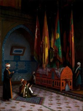The Sentinel at the Sultan's Tomb, C.1880 by Jean Leon Gerome