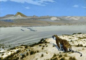 Tiger on the Watch by Jean Leon Gerome
