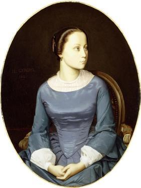 Young Woman in Blue, 1852 by Jean Leon Gerome