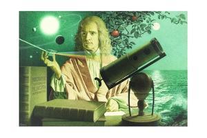 A Portrait of Sir Issac Newton by Jean-Leon Huens by Jean-Leon Huens