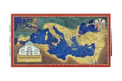 An Artist's Recreation of the Byzantine Empire under Justinian I by Jean-Leon Huens