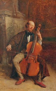 Alexandre Batta, the Cellist, 1855 by Jean-Louis Ernest Meissonier