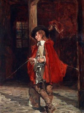Bretteur (Swordsma) in a Red Cloak, 19th Century by Jean Louis Ernest Meissonier