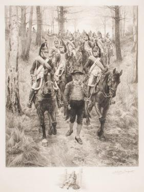 French Cavalry Traveling Through Woods with Guide by Jean-Louis Ernest Meissonier