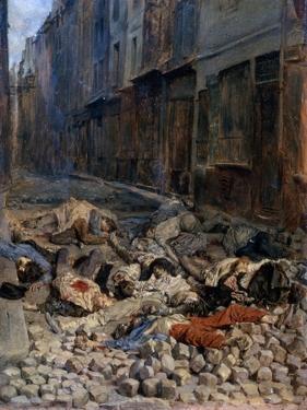 La Barricade, Rue de La Mortellerie, c.1848 by Jean-Louis Ernest Meissonier
