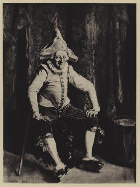 Le Polichinelle Assis by Jean-Louis Ernest Meissonier