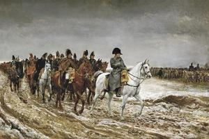 Napoleon on Campaign in France,1814 by Jean-Louis Ernest Meissonier