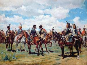 Soldiers on Horseback by Jean-Louis Ernest Meissonier