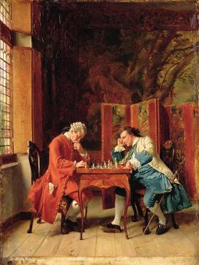 The Chess Players, 1856 by Jean-Louis Ernest Meissonier
