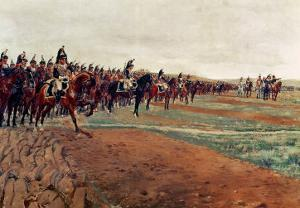 The Cuirassiers Before Their Charge at the Battle of Austerlitz in 1805, Detail, 1878 by Jean-Louis Ernest Meissonier