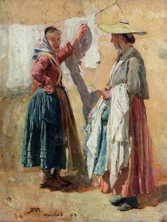 Washerwomen in Antibes, 1869