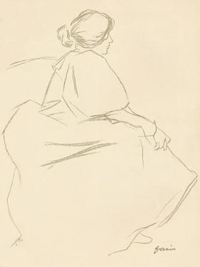 A Study in Crayon, C1872-1898, (1898) by Jean Louis Forain