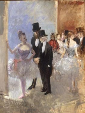 Les Coulisses de l'Opera, c.1887-90 by Jean Louis Forain