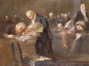 Scene at the Tribunal: the Convicting Evidence by Jean Louis Forain