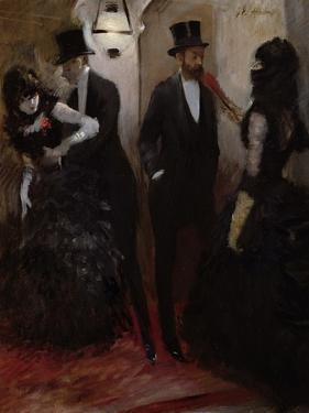 The Corridors at the Opera, 1885 by Jean Louis Forain