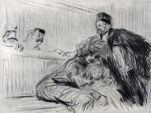 The Lawyer Speaking with the Prevenu, 1925 by Jean Louis Forain