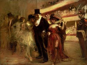 The Opera Stage by Jean Louis Forain