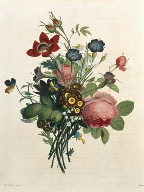 Bouquet of Rose and Lily of the Valley by Jean Louis Prevost