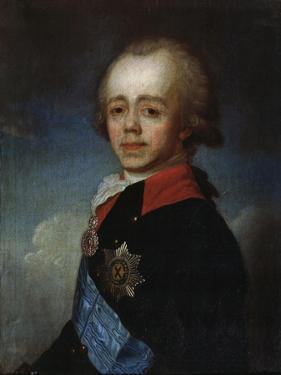 Portrait of Grand Duke Pavel Petrovich, (1754-180), Late 18th Century by Jean Louis Voille