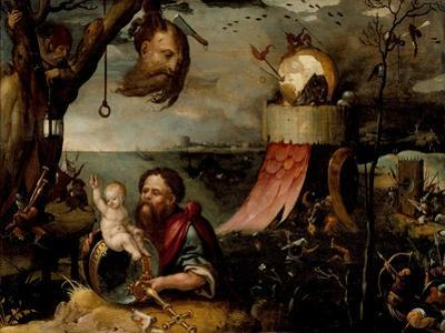 Saint Christopher and the Christ Child, c.1550 by Jean Mandyn