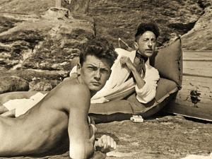 Jean Marais and Jean Cocteau on the Beach in Pramousquier, France, 1938