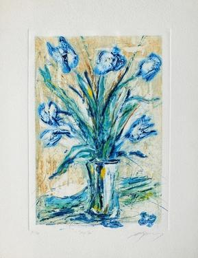 Tulipe bleue by Jean-marie Guiny