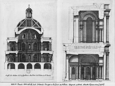 Basilica Saint-Denis, the Valois Tower, C.1655 (Engraving) (See also 414688, 414690)