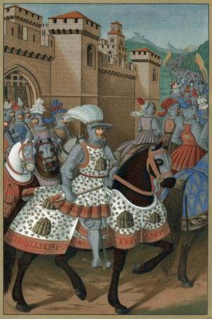 Louis XII, King of France, Riding Out with His Army to Chastise the City of Genoa, 24 April 1507 by Jean Marot