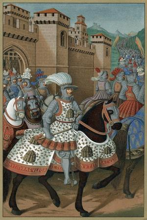 Louis XII, King of France, Riding Out with His Army to Chastise the City of Genoa, 24 April 1507