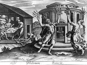 Philemon and Baucis, from an Edition of the Metamorphoses of Ovid, Published in Paris in 1619 by Jean Matheus
